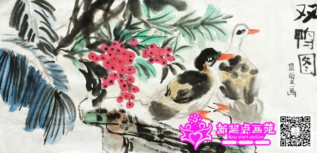 写意临摹 最后更新:2014-09-09 紫藤花-国画提高班2014年8月18日 最后图片