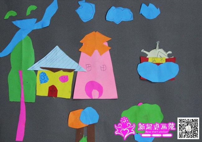 剪纸画房子-儿童画初级班2014年11月15日(9)