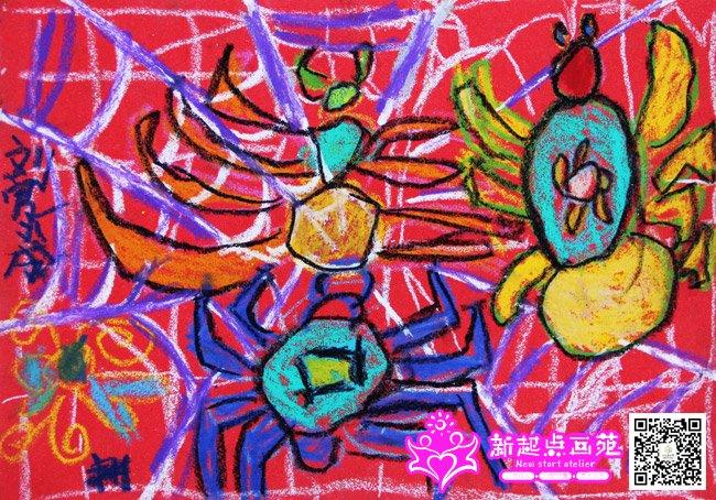 蜘蛛网-儿童画初级班2014年11月18日-新起点画苑