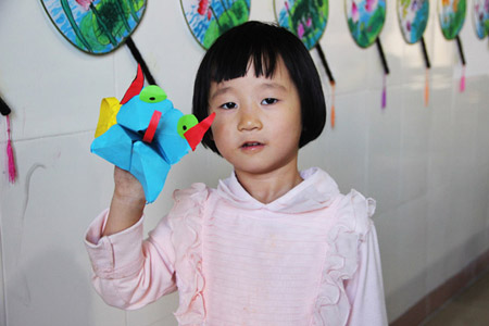 大嘴巴纸偶-儿童画初级班2014年11月22日