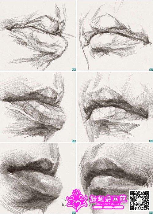 素描人头像之手把手教你画嘴巴(超详细嘴巴画法步骤)