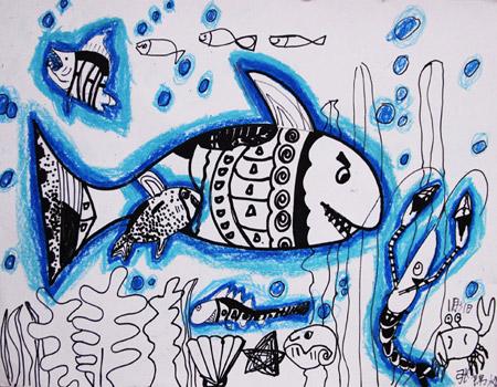海底世界-儿童画提高班-2015年01月31日-新起点画苑