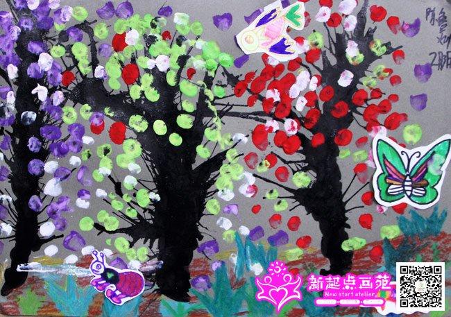 吹墨画-儿童画初级班-2015年02月3日-新起点画苑