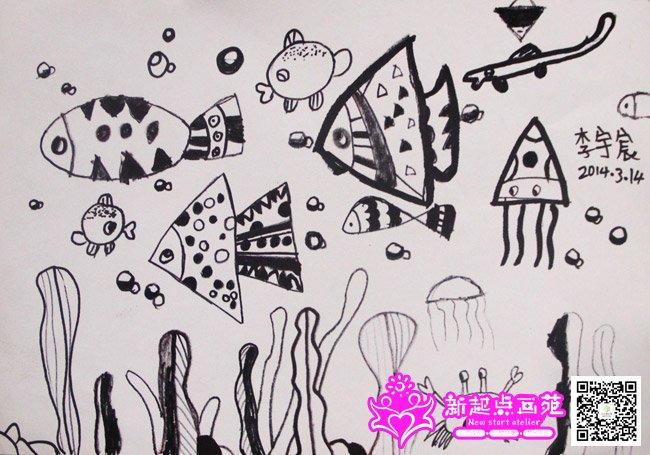 点线面绘画-儿童画提高班-2015年3月14日学生作品-新起点画苑