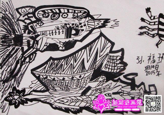点线面绘画-儿童画提高班-2015年3月14日学生作品