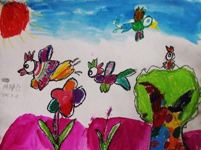 主页 学生作品 儿童画作品  快乐的数字-儿童画提高班,初级班-2015年3