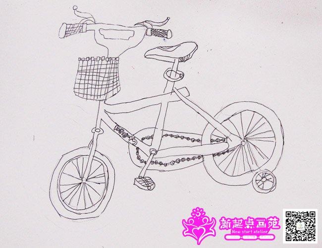 自行车写生-儿童画精英班-2015年4月18日学生作品
