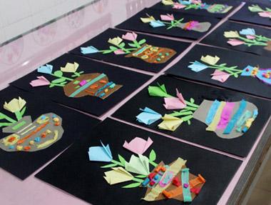 折纸花-儿童画提高班-2015年5月9日学生作品-新起点画苑