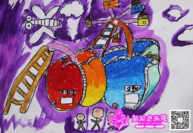 水果创意画-儿童画精英班,提高班,初级班-2015年5月8日学生作品