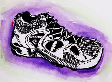 鞋子图片写生-儿童画精英班-2015年6月6日学生作品-新起点画苑