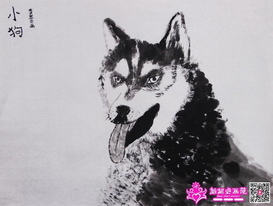 优秀名师黑白动物画